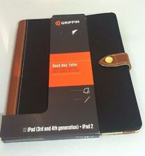 Griffin Back Bay Folio for iPad 3rd & 4th Generation and iPad 2 Black and Brown