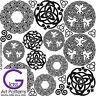 Celtic Knot Round Fusing Glass Decal Waterslide Ceramic Enamel-Black Hi Fire