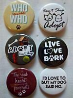 """1.5"""" PET LOVER Set #2  6-pk Novelty Buttons/Pins: For backpacks, Jackets & More"""