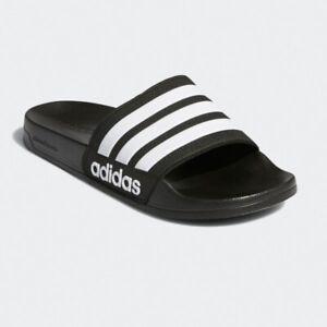 Adidas Adilette Shower Slides Mens Athletic Black Rubber Slippers # AQ1701