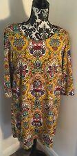 Joe browns Summer dress size 14 Sunshine yellow floral baroque  Paisley Tunic
