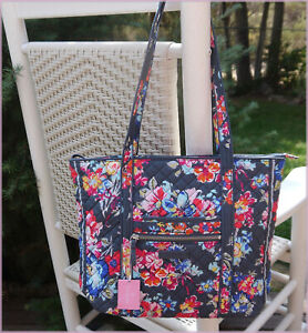 NWT Vera Bradley Signature Quilted Cotton Iconic Small Vera Tote - PRETTY POSIES