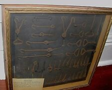 ORIGINAL SAMPLE BOARD (1880'S) MILL WIRE GOODS TEXTILE INDUSTRY WORCHESTER MASS.
