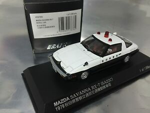 1/43 Kyosho RAI'S #H7437902 Mazda SAVANNA RX-7 Patrol Car Police