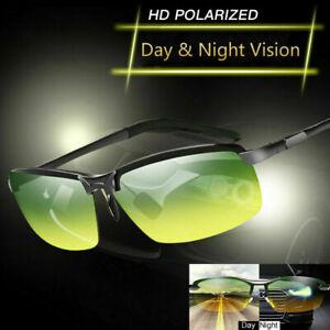 Tac HD+ Polarized Day Night Vision glasses Men Driving Sports Aviator sunglasses