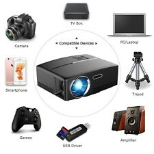 Mini Portable LED 3D HD 1080P Home Theater 4K LCD Cinema Projector W/ 3D Glasses
