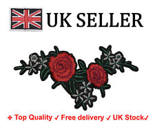 Floral Sew Iron on Patch Badge Embroidery flower, rose Applique Motif transfer