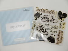 Close To My Heart Acrylix Stamp Set D1176 Youthful Heart Elderly Old Lady 50+yrs