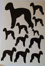 Bedlington terrier vinyl stickers/ car decals/ window decals