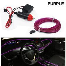 6.5FT LED Purple Car Interior Decor Atmosphere Wire Strip Light Lamp Accessories