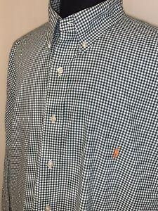 Current Big Tall Polo Ralph Lauren Checkered Button Down Summer Weight Shirt 2XB