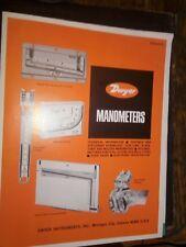 Dwyer Manometers Bulletin D-40 Technical Information Catalog Dwyer Instruments
