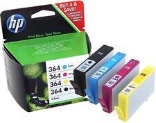 4x HP 364 ORIGINAL DRUCKER PATRONE DESKJET 3070A 3520 3522 OFFICEJET 4620 4622