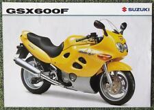 SUZUKI GSX 600 F MOTORCYCLE SALES SHEET NOVEMBER 1998