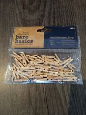 Mini wooden pegs. 50 pack