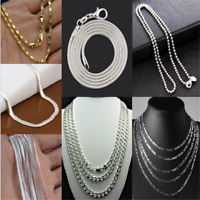 Wholesale 925 Silver Snake Chain Necklace DIY Fits Pendant 14-28""