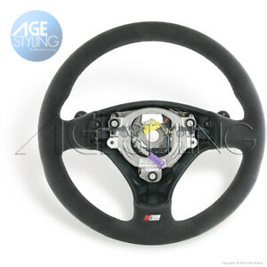 Audi A2 A3 A4 A6 A8 S-Line Alcantara Suede Steering Wheel Tiptronic DSG Shifters