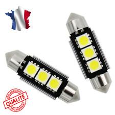 2 Ampoule Navette LED C7W 39mm ANTI SANS ERREUR CANBUS Plafonnier Plaque 6000k