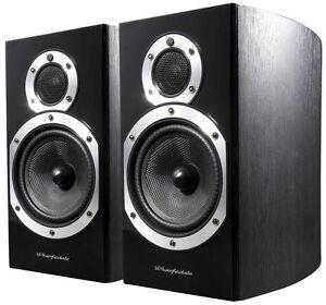 Wharfedale Bookshelf Speakers - Diamond 10.1 Black Wood Stand Mount Loudspeakers