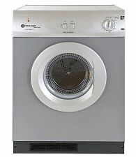 White Knight C44A7S 7kg Vented Tumble Dryer Silver