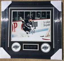 PSA/DNA LA Kings #99 WAYNE GRETZKY Signed Autographed FRAMED Hockey Photo