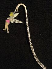 peter pan inspired pink tinkerbell / fairy bookmark