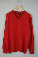 CARLO COLUCCI  Men's XX LARGE Merino Wool Blend Red ITALY Sweater 17247-JS