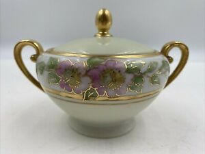 Tirschenreuth Bavaria Germany Queens Rose Ivory Floral Creamer  Sugar Bowl Set