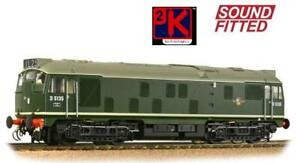 Bachmann 32-440SF Fact. Sound Fitted Class 24/1 D5135 BR Green No Yellow Panels