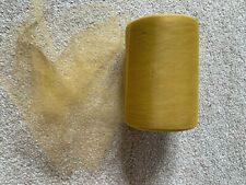 15m of 150mm Wide Soft Nylon Gold Tulle Netting Fabric Wedding/Tutu/Crafts