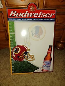 1999 Budweiser Washington Redskins Counter Display Advertising Sign NOS!