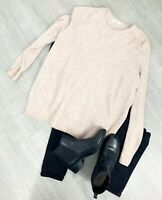 M&S Extra Fine Lambswool Size 18 Beige Long Sleeve Jumper Top Casual