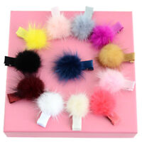 12pcs/lot Soild colorful hair clip matching hair bulb clip_ne