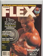 FLEX Bodybuilding Fitness Muscle Magazine/Eddie Robinson/Tom Platz 5-90