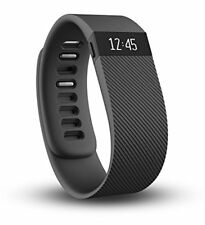 Fitbit Charge HR Wireless Heart Rate Wristband large Black  (FB405BKL)