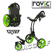 Clicgear Rovic rv1s 3-rad Golf Trolley in Charcoal Black/Lime esecuzione.