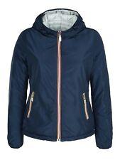 Giubbotto piumino donna blu impermeabile invernale giacca casual con cappuccio