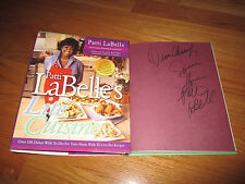 Celebrity Chef PATTI LaBELLE's signed LITE CUISINE 2003 1st Ed Book COA Cheryl