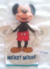 "Old Vintage Mickey Mouse Original Disney Hand Puppet 1950's Japan 10"" Tall"