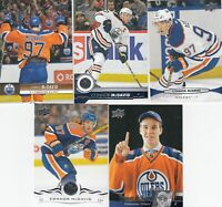 CONNOR McDAVID  30 years of UPPER DECK in UPPER DECK 19-20 lot of 5 CARDS LOT7 a