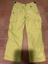 Men's Billabong Snowboard Pants Chartreuse - Size XL - EC