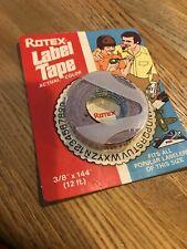 Rotex 38 Manual Embossed Label Maker Tape Total 144 Red