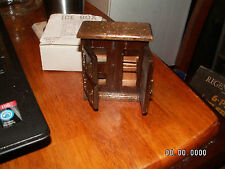 Vintage Wood Doll House Furniture Ice Box, Chadwick-Miller, Orig box! LOOK!