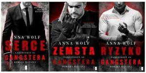 Pakiet Serce Ryzyko Zemsta Gangstera Tom 1-3 Anna Wolf Romans Mafijny Gangsterzy