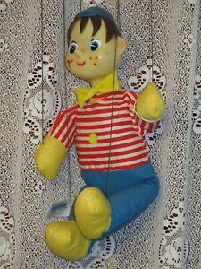 1962 Knickerbocker Pinocchio Marionette Finger Tip Control Plush and vinyl doll