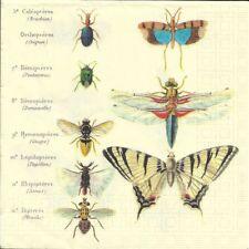 2 Serviettes en papier Papillons Decoupage Paper Napkins Antique Butterflies