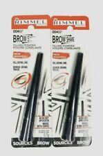 Rimmel London Brow Shake Filling Powder #004 Black New Sealed & Carded Lot of 2