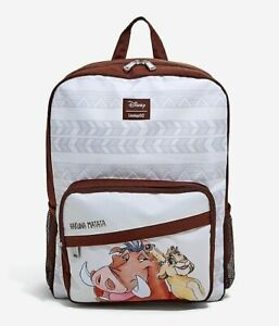 Loungefly Disney The Lion King Hakuna Matata Simba Timon Pumbaa Backpack