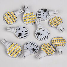 10x Super Bright 4.8w Warm White T10 921 RV Car Wedge 24SMD LED Light Bulb 12v