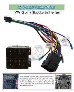 iFreGo ISO Kabelbaum Adapter Stereo Kabel Autoradio Stecker Für VW GOLF SKODA
